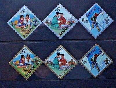 BHUTAN 1967 Girl Scouts Guides. Set of 6. Mint Never Hinged. SG148/153.
