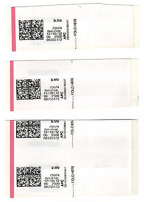 APC / CVP / ATM - Set of 3x misprinted & miscut APC stamps, Cat. #CVP85a