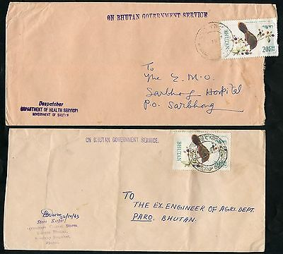 Bhutan   Selection  B  Of 12 Commercially  Used Covers  As Shown