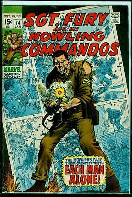 Marvel Comics SGT. FURY And His HOWLING COMMANDOS #74 FN+ 6.5