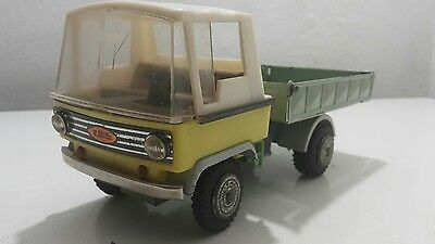 Vintage Truck Zbik Flat Bed Carrier Tin Metal Plastic Toy Friction Poland Rare