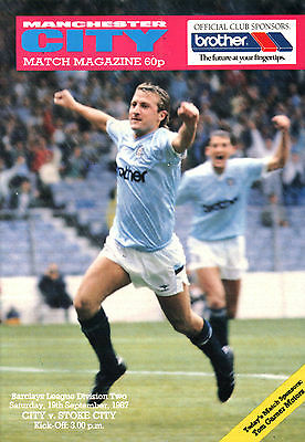 1987/88 Manchester City v Stoke City, Division 2, PERFECT CONDITION