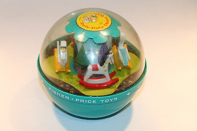 Classic 1966 ORIGINAL Fisher Price ROLY POLY CHIME BALL #165 Made In USA