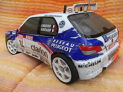 Tamiya Peugeot 306 Maxi WRC R/C Rally Car 1/10 - 58224 + Box + Instructions