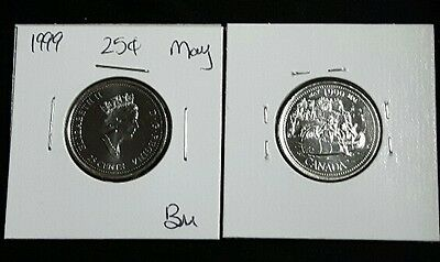 "May 1999 25c Canada Quarter - ""The Voyageurs"" Millennium Variety - BU"