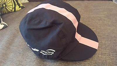 Rare Rapha Condor Recycling Cycling Cap Large - Black/ Pink Stripe
