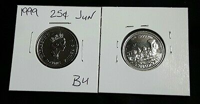 "June 1999 25c Canada Quarter - ""From Coast to Coast"" Millennium Variety - BU"