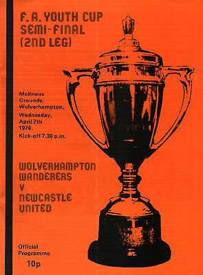 1975/76 Wolverhampton Wanderers v Newcastle United, FA Youth Cup Semi, PERFECT