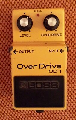 Boss OD-1 Overdrive - Japan - Black Label - JRC 4558 - Vintage - 1986