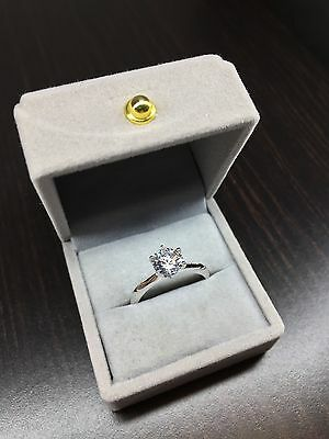 1.5Ct Engagement Wedding Ring 100% Pure Hallmarked 925 Sterling Silver Ring