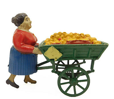 1949 Les Jouets Creation French Wind Up Tin And Comopsition Toy Orange Merchant