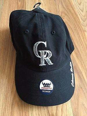 NEW Women's Genuine Merchandise COLORADO ROCKIES Black Baseball Hat Cap One Size