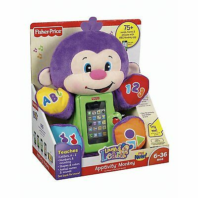 Laugh and Learn Apptivity Monkey NIB Fisher Price