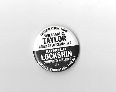 Communist Party William Taylor Arnold Lockshin Political Campaign Button Pin