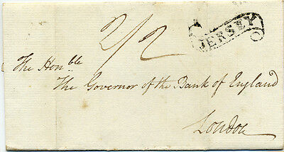 1817 'E' to 'The Govenor of the Bank of England' with Jersey Scroll and Manu.2/2