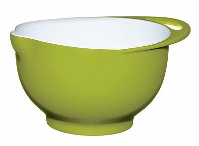 Kitchen Craft Colourworks Melamine Two Tone Mixing Bowl, 22 cm - Green