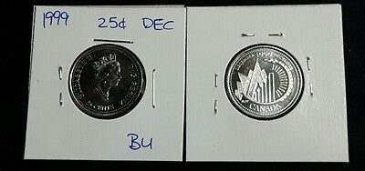 "December 1999 25c Canada Quarter - ""This Is Canada"" Millennium Variety - BU"