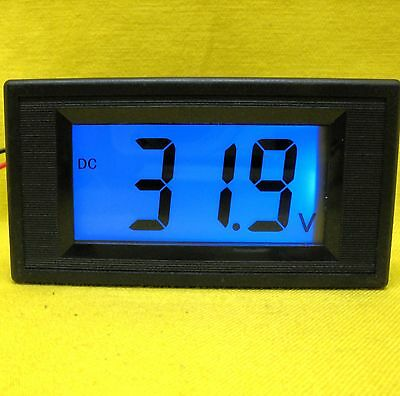 LCD Voltage Panel Meter Volt BLUE Voltmeter Solar Battery 48V 60V 72V DC 100V 1D