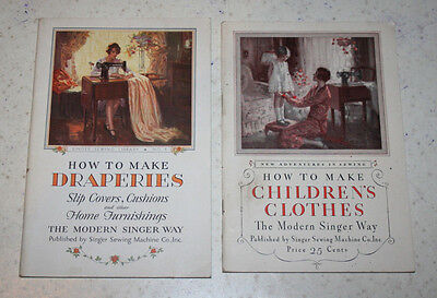 2 Vintage Singer Way Booklets How to Make Children's Clothes & Draperies Sewing