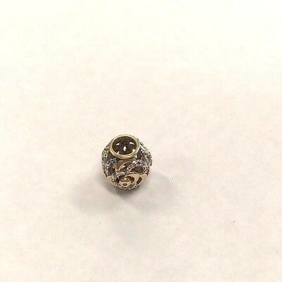 Genuine MICHAEL HILL Diamond Set Rose Charm in 10ct Yellow Gold RRP $449.00