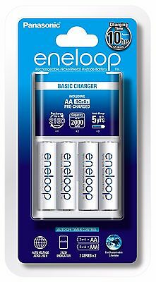 Eneloop 4x AA Rechargeable Battery + Charger - Australian Stock and Seller