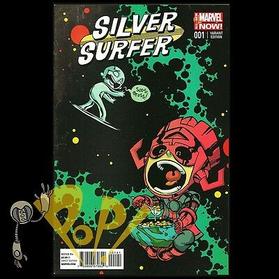 SILVER SURFER #1 Skottie YOUNG Baby VARIANT Marvel Comics VF First Print!