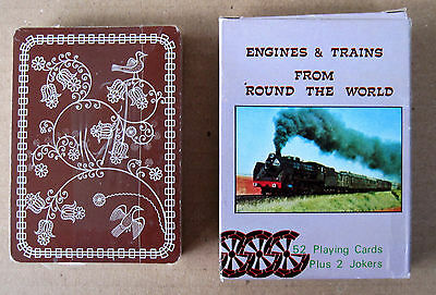 Engines & Trains From 'Round the World - Playing Cards - Sealed Deck