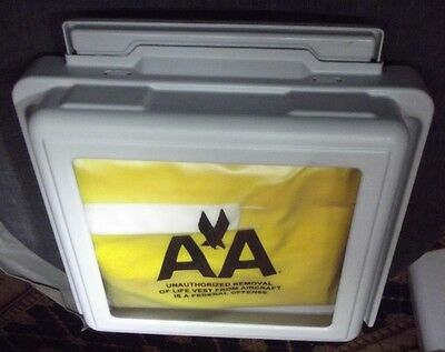 American Airlines Aircraft Aviation Life Jacket Vest Preserver And Rare Housing