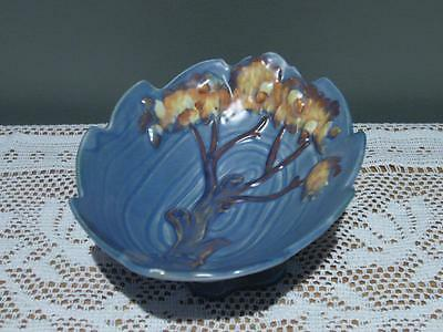 Vintage Carlton Ware 'night Oak' Footed Small Dish - England - Good Cond