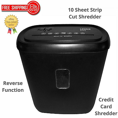 Electric Shredder Home Office Paper Credit Card Cross Cut 21L 10 A4 Page Shred