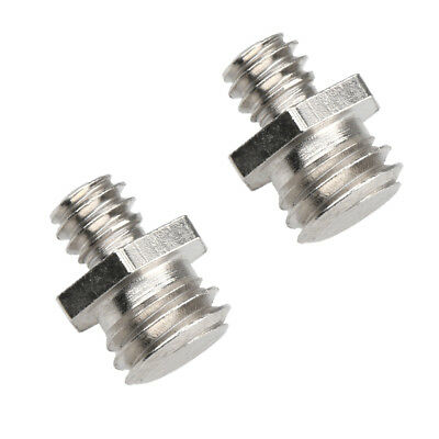 2 Pcs Durable 1/4 inch Male to 3/8 inch Male Screw Converter for Photography