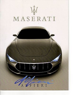 Maserati Alfieri & Maserati history booklet (38 pages) softcover
