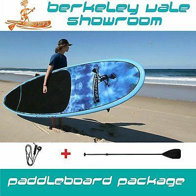"Stand up Paddle Board Epoxy SUP Package ""Groovin Bluz"" 10' 10'6 11'2"