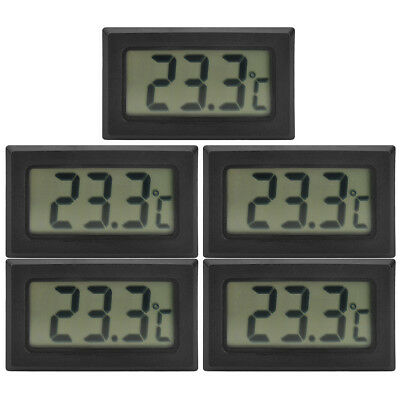 5 Pieces Digital Compact LCD Thermometers w/Outdoor Remote Sensor
