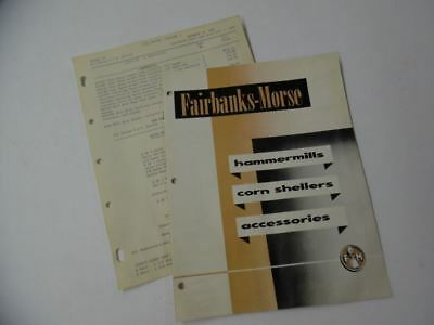 1950 Fairbanks Morse Hammer Mill Corn Sheller Catalog Brochure Vintage Original