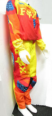 Fox Combo Motocross Pants & Jersey New #28 Youth Kids Imperial Red/yellow Mx