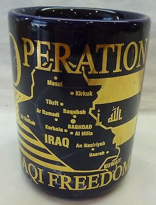 Operation Iraqi Freedom Coffee Mug-Military-Large 14 Oz. Mug-Very Good