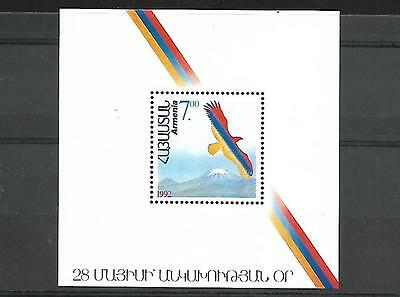 Armenia Souvenir Sheet Imperf #431 (Nh) From 1992.