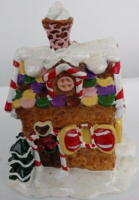 Christmas Gingerbread House Ornament Statue Resin Xmas Decoration Unique