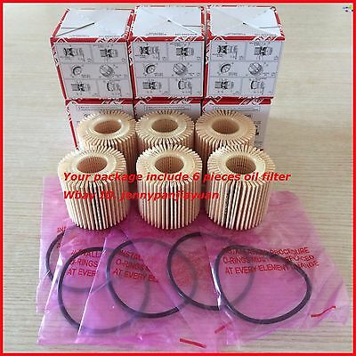 Toyota OEM Oil Filter 04152-YZZA6 Pack of 6