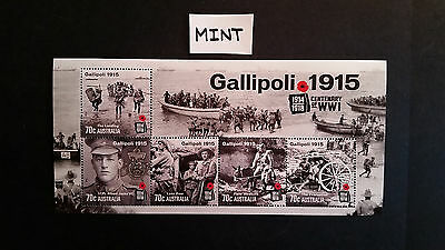 No-1--2015  Gallipoli   Mini    Sheet  --Mint  --Mnh --Tops