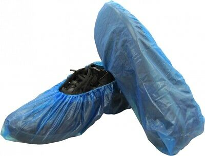 "Disposable Corrugated Polypropylene 2.8g Blue Poly Shoe Covers 16"" 500 Pcs"