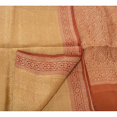 Sanskriti Antique Vintage Indian Saree Pure Silk Woven Fabric Premium Sari With