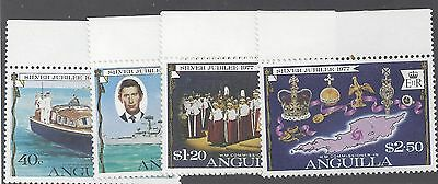 Anguilla - 1977 - Qe Ii - Silver Jubilee - Royal Visit - Ovpt - Mnh - Set!
