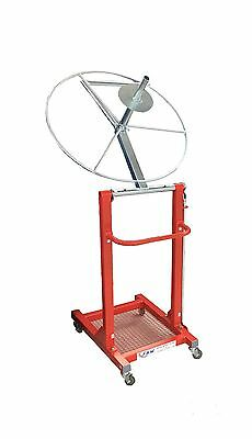 Alloy Wheel Stand Mobile Wheeled Trolley for Powder Coating Preparation