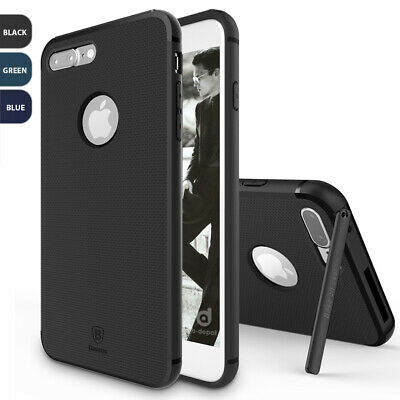 For Apple iPhone 8 7 Plus Hidden Magnetic Kickstand Slim Hybrid TPU Case Cover