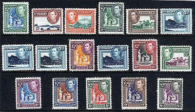 ST. VINCENT King George VI 1938-47 Complete Bradbury Set SG 149 to SG 159 MINT