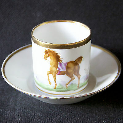 Superbe Paris Empire Porcelain Cup And Saucer Horse-Riding (1)