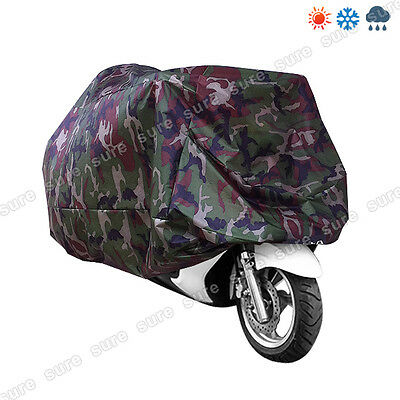 Waterproof Motorcycle Cover XXL Motorbike Breathable RAIN Vented Camouflage