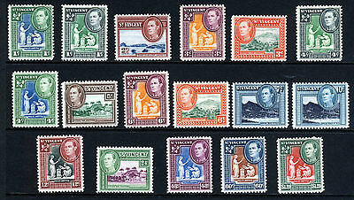 ST. VINCENT King George VI 1949-52 The New Currency Set SG 164 to SG 175 MINT